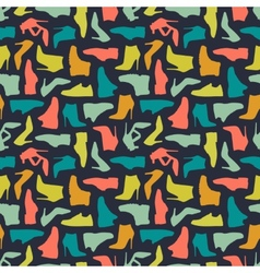 Seamless shoe pattern vector