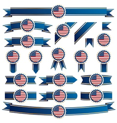 usa ribbons vector image