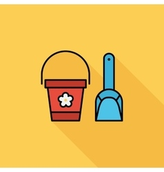 Pail and shovel vector image