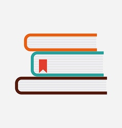 office books design vector image