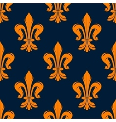 Orange and blue vintage floral pattern vector