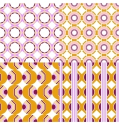 Set of seamless geometric patterns vector image