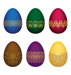 Easter colorfull eggs vector