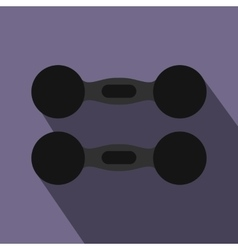 Pair of dumbbells icon flat style vector