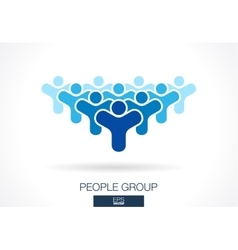 Abstract logo for business company Crowd society vector image vector image