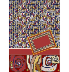 abstract pattern cover vector image vector image