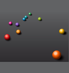abstraction background with colorful balls vector image vector image