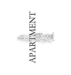 Apartment locators or apartment database sites vector