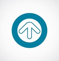 arrow icon bold blue circle border vector image vector image