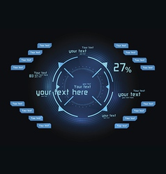 Blue infographics as head-up display vector