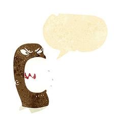 Cartoon furious man shouting with speech bubble vector
