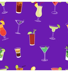Cocktail purple seamless pattern vector
