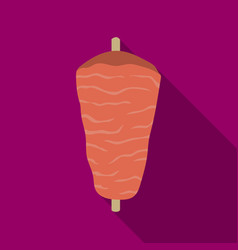 Doner kebab icon in flat style isolated on white vector