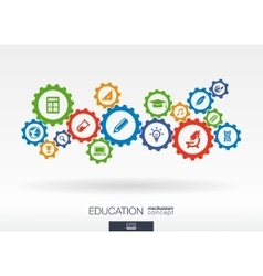 Education mechanism concept abstract background vector