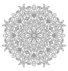 Ethnic mandala symbol for coloring book vector image vector image