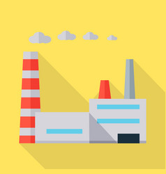 Factory in flat design vector