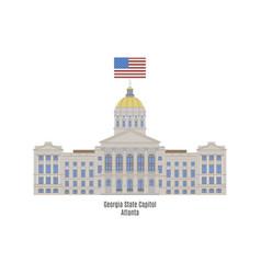 Georgia state capitol vector