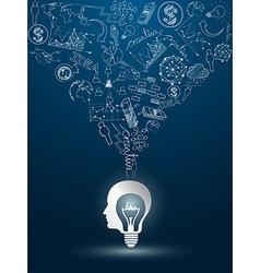 Head idea2 vector image