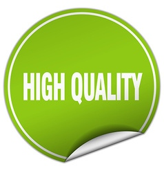 high quality round green sticker isolated on white vector image vector image