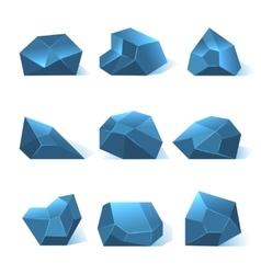 Ice rock pieces set vector