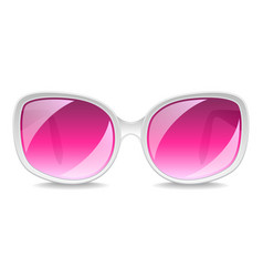 large pink sunglasses isolated on white vector image
