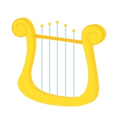 Lyre icon in cartoon style vector