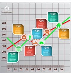 Modern template - diagram with info graphics vector