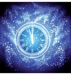 Old clock holiday lights vector image