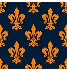 Orange and blue vintage floral pattern vector