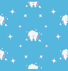 Pattern seamless brush paste tooth health sparkle vector