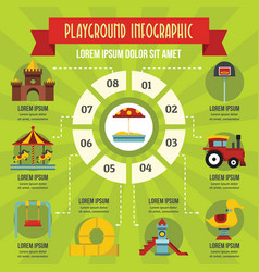 Playground infographic concept flat style vector
