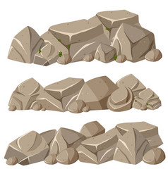 rock formations in three patterns vector image