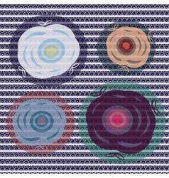 set lace flowers vector image