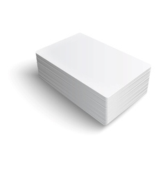 Stack of blank business card vector image vector image