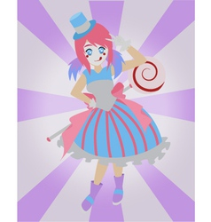 sugar clown vector image vector image