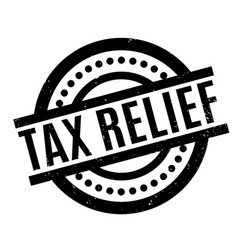 Tax relief rubber stamp vector