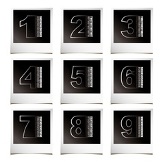 Photo numbers vector