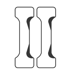 Dumbell pair icon vector