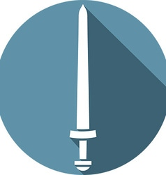 Viking sword icon vector