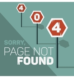 Oops Error 404 Web Banner Page Not Found Stop vector image