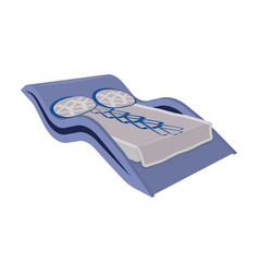 blue wavy bedmedical bed for the treatment of the vector image