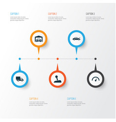 auto icons set collection of fixing repairing vector image