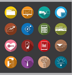 business and finance flat icons vector image