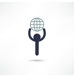 globalization icon vector image