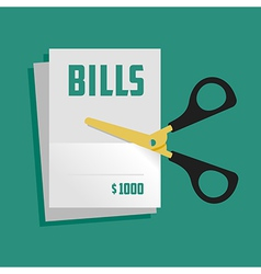 Cut bills vector