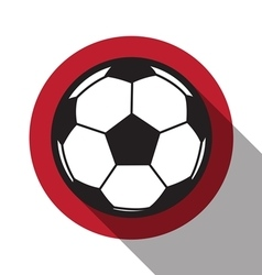 Football icon with japan flag vector