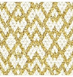Tribal glitter golden seamless pattern vector