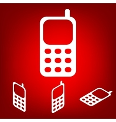 Cell phone icon set isometric effect vector