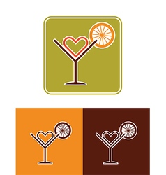 summer coctail icon vector image