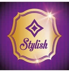 Stylish design decorated icon purple vector